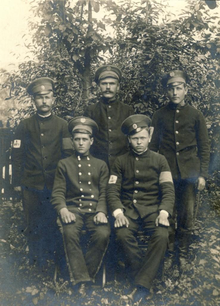 5 russische Kriegsgefangene 1914-1918kl